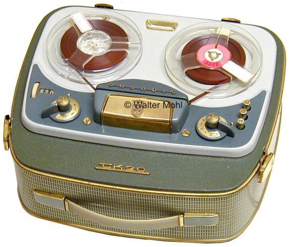 Магнитофон Grundig TK-20 - Германия - 54 года - стиль - - Металл